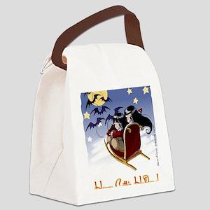 Bat sled Canvas Lunch Bag
