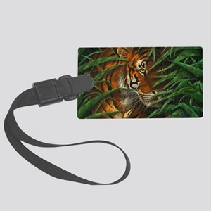Tiger Stalking (shoulder bag) Large Luggage Tag