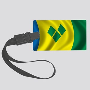 stvincent_flag Large Luggage Tag