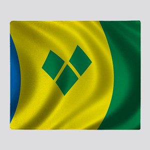 stvincent_flag Throw Blanket