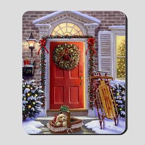 Christmas Doorway_PUZZLE Mousepad