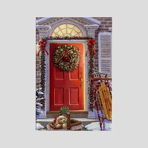 Christmas Doorway_PUZZLE Rectangle Magnet