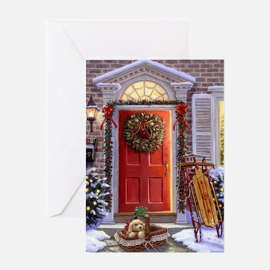 Christmas Doorway_PUZZLE Greeting Card