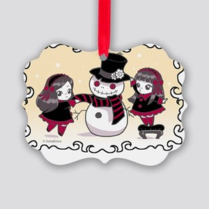 Chibi Christmas Picture Ornament