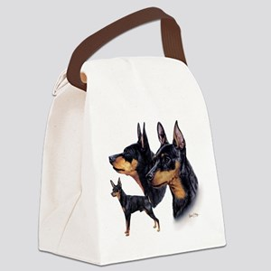 Min Pin Multi Canvas Lunch Bag