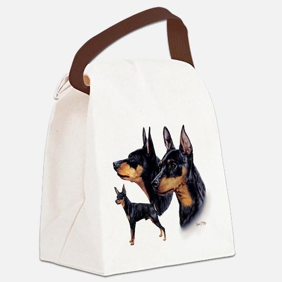 Min Pin Multi Canvas Lunch Bag