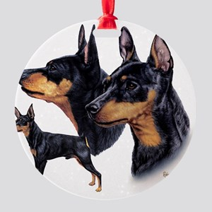 Min Pin Multi Round Ornament