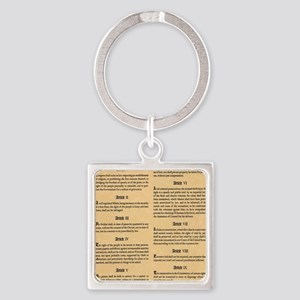 billofrights Square Keychain