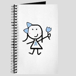 Girl & Lt Blue Ribbon Journal