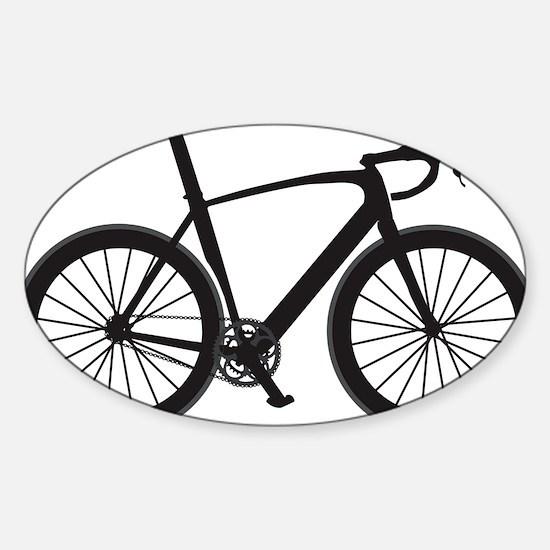 BARB_blk Sticker (Oval)