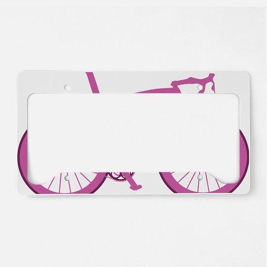 BARB_pink License Plate Holder
