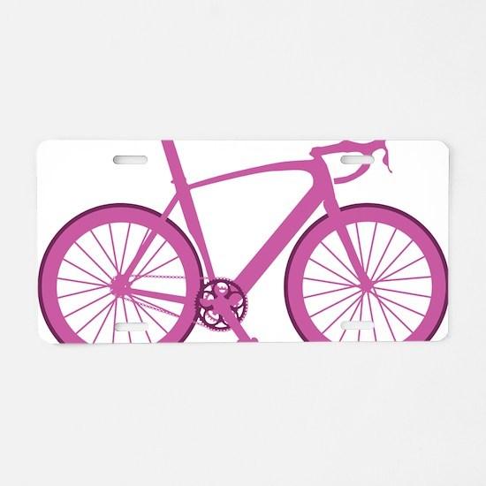 BARB_pink Aluminum License Plate