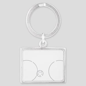 BARB_white Landscape Keychain