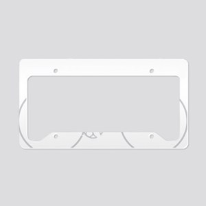 BARB_white License Plate Holder