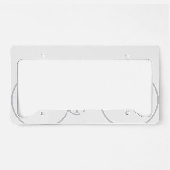 BARB_white License Plate Holder