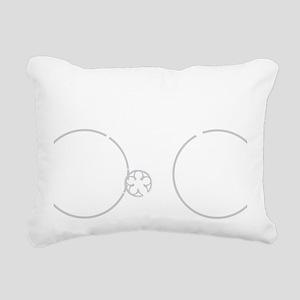 BARB_white Rectangular Canvas Pillow