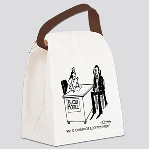 2193_vampire_cartoon Canvas Lunch Bag