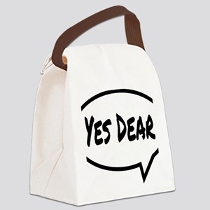 Yes Dear Hat Canvas Lunch Bag