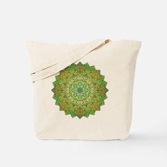 Green Gold Heart Chakra Mandala Yoga Shir Tote Bag