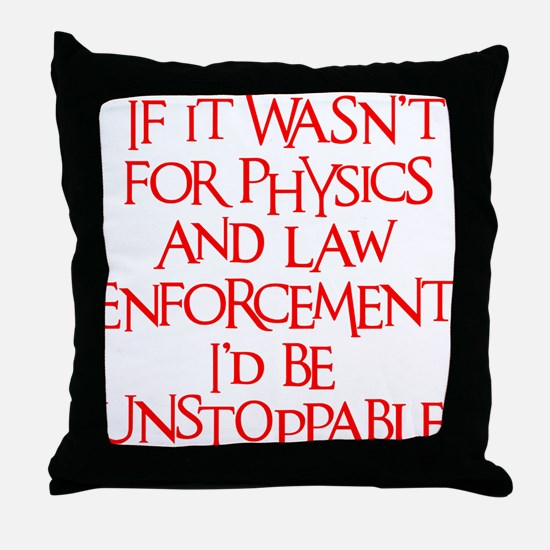 neon red, Unstoppable Throw Pillow