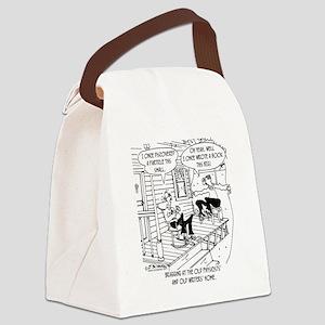 7145_writing_cartoon Canvas Lunch Bag