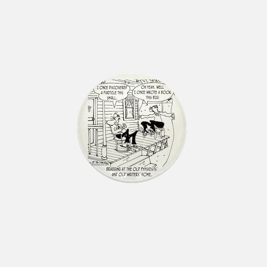 7145_writing_cartoon Mini Button
