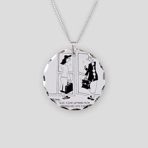 7309_fashion_cartoon Necklace Circle Charm