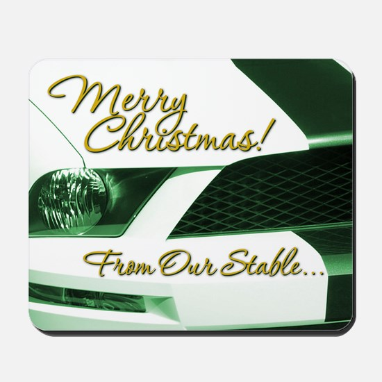 Xmas-merry-outMustang1 Mousepad