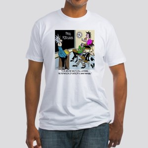 8595_physics_cartoon Fitted T-Shirt