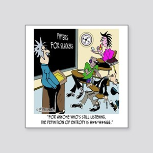 "8595_physics_cartoon Square Sticker 3"" x 3"""