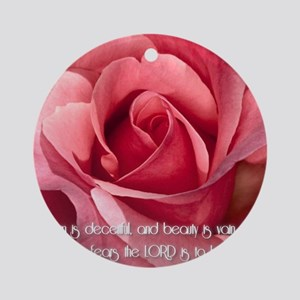 Proverbs 31 Round Ornament