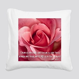 Proverbs 31 Square Canvas Pillow
