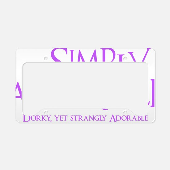 lavendar, Simply Adorkable License Plate Holder