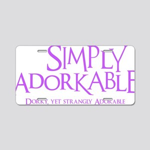 lavendar, Simply Adorkable Aluminum License Plate
