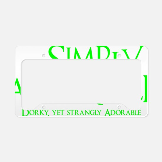neon green, Simply Adorkable License Plate Holder