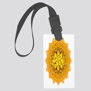 Gold Om Water Bottle Large Luggage Tag