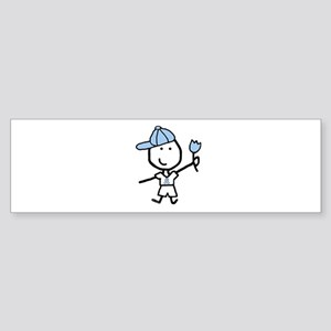 Boy & Lt Blue Ribbon Bumper Sticker