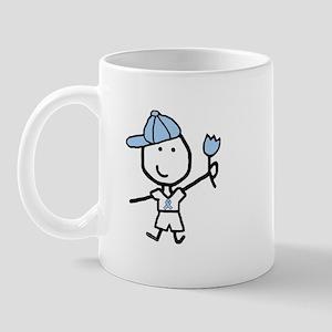 Boy & Lt Blue Ribbon Mug