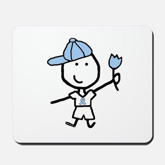 Boy & Lt Blue Ribbon Mousepad