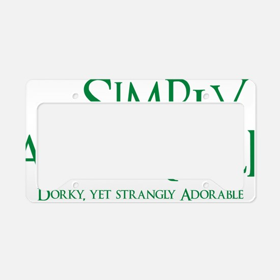 green, Simply Adorkable License Plate Holder