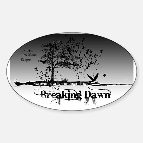 must have breaking dawn #9 large po Sticker (Oval)