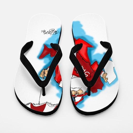 secondline santa Flip Flops