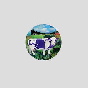 A Purple Cows Paradise Mini Button