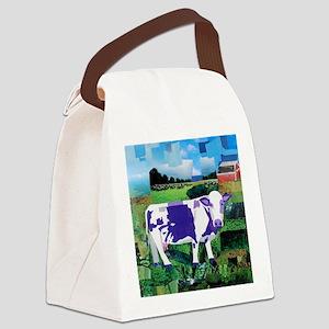 A Purple Cows Paradise Canvas Lunch Bag