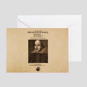 First_Folio-bag Greeting Card