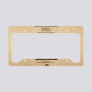 First_Folio-bag License Plate Holder