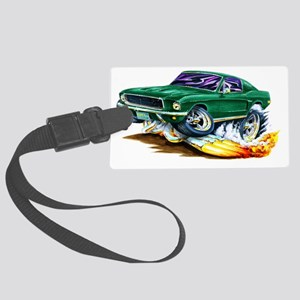 1968 Bullit Mustang copy Large Luggage Tag