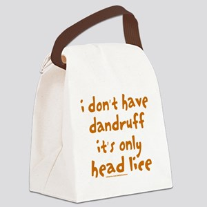 DandruffHeadLice Canvas Lunch Bag