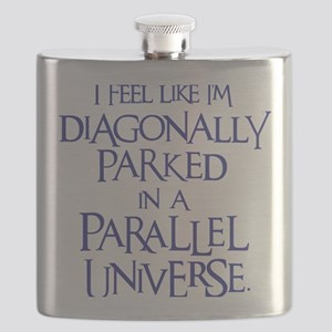 blue, Diagonally Parked Flask