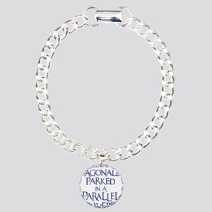 blue, Diagonally Parked Charm Bracelet, One Charm